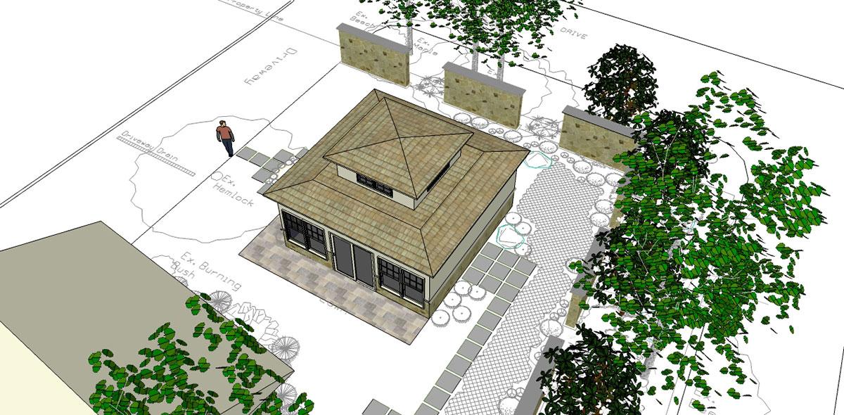 Landscape Design 3D Model Sullivan County NY