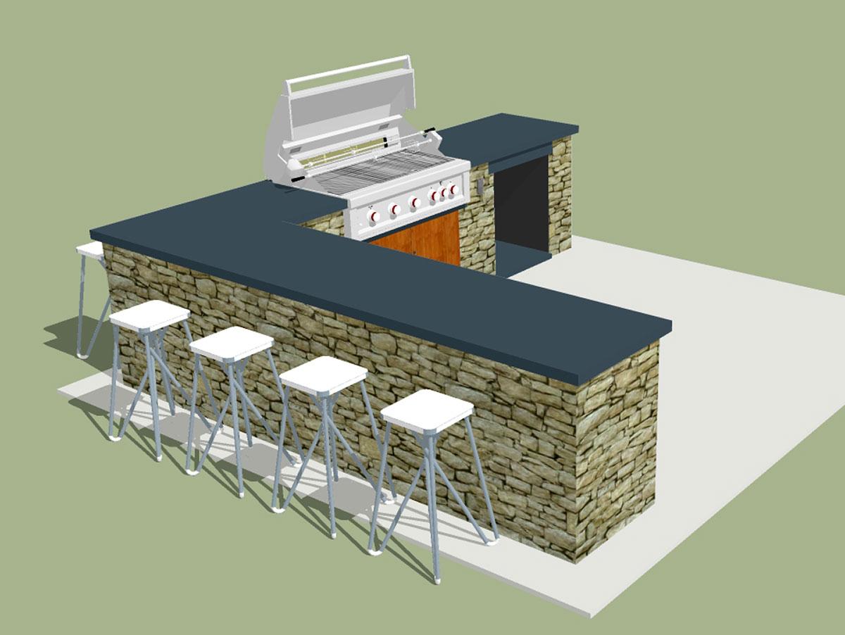 Outdoor Kitchen 3D Computer Model Sullivan County NY