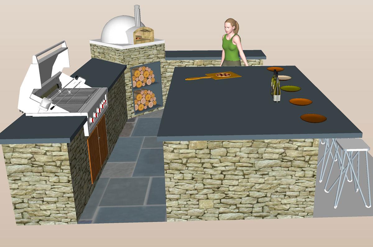 Outdoor Kitchen Visual Simulation Sullivan County NY