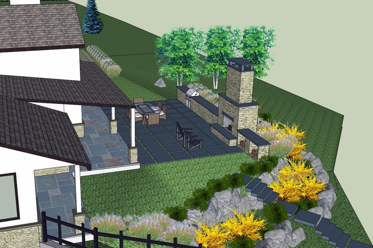 3D Model Landscape Design Sullivan County NY Roscoe
