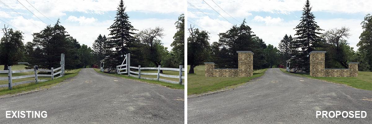 Stone Columns Visual Simulation Yulan NY Barryville NY