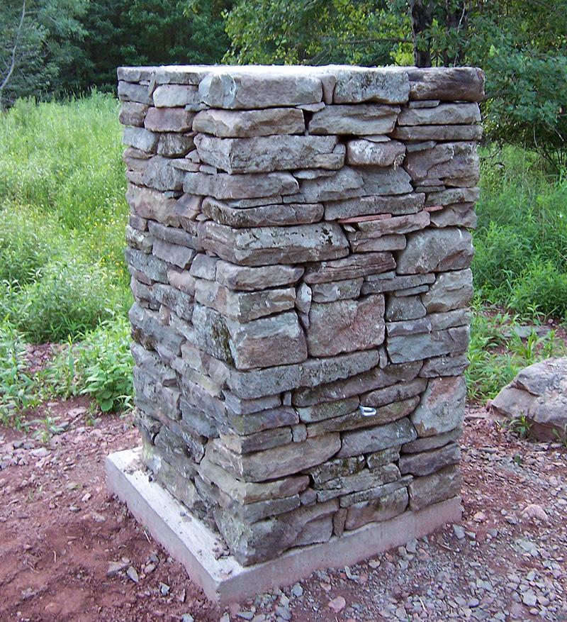 Fieldstone Columns Sullivan County New York