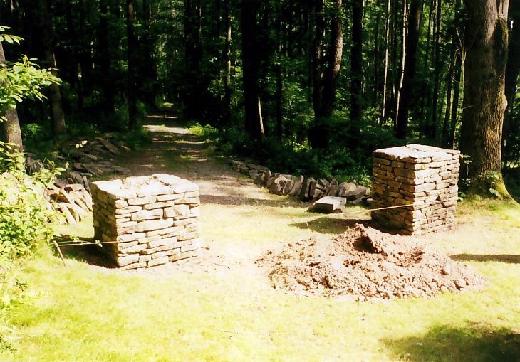 Stone Entry Columns Sullivan County NY