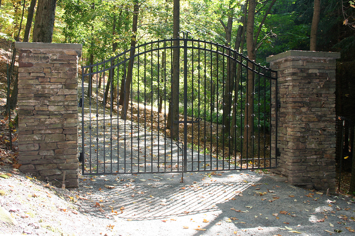 Stone Column Entry Gate Sullivan County NY