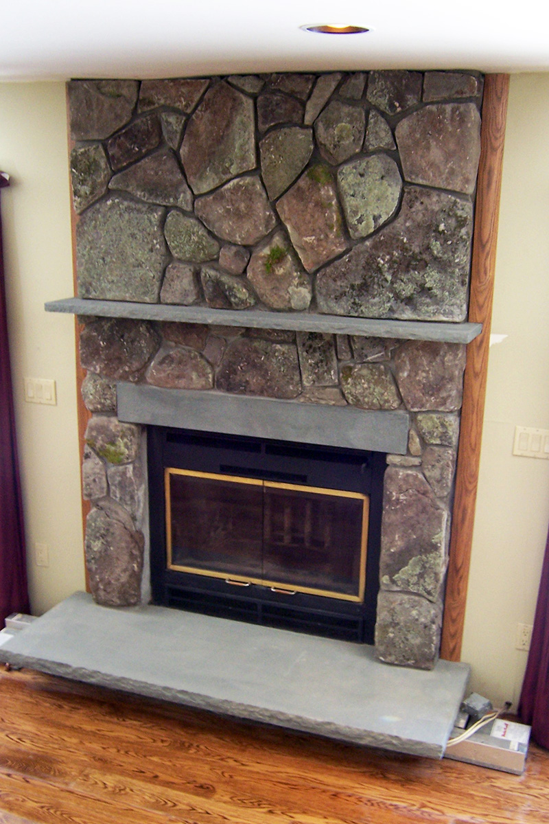 Forestburgh, NY Indoor Stone Fireplace