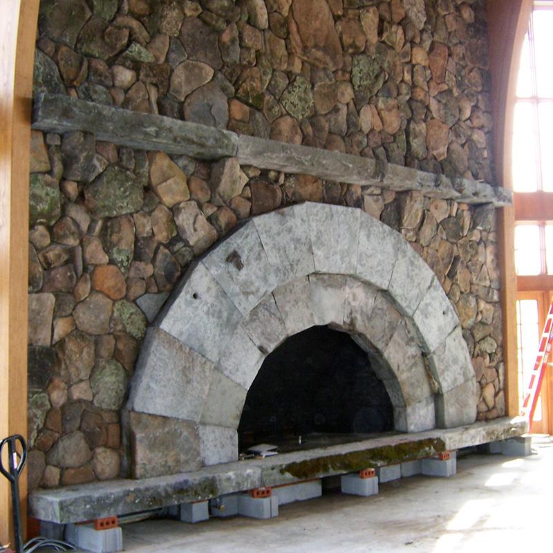 Bethel NY Fieldstone Fireplace Sullivan County