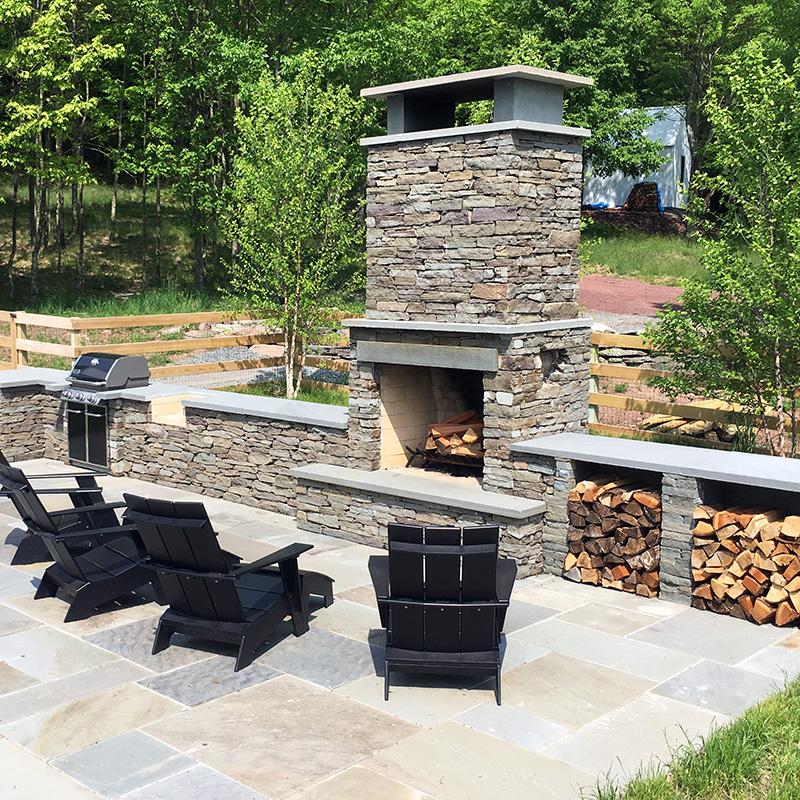 Sullivan County Outdoor Living Stone Fireplace & Patio