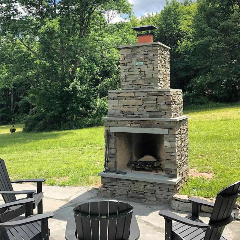Outdoor Fireplace and Stone Patio Cochecton, NY Sullivan County