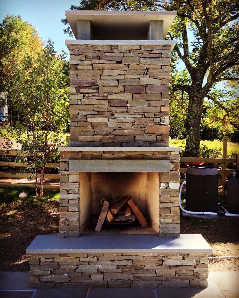 Outdoor Fireplace Upstate NY Sullivan County