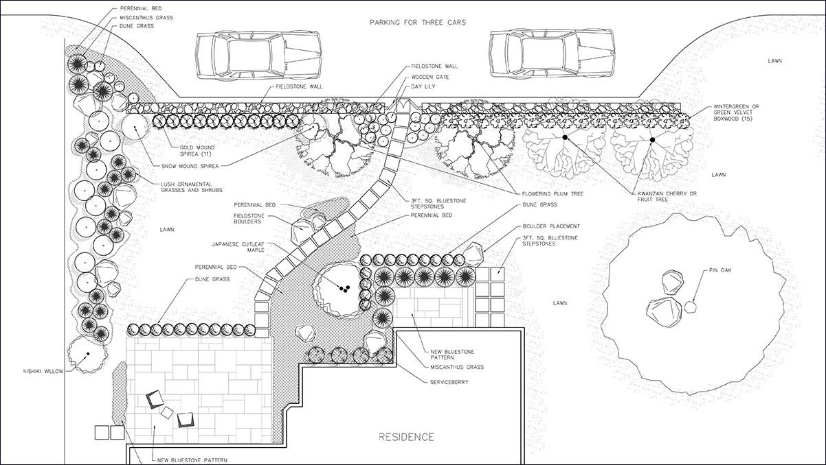 Front Yard Landscape Design Sullivan County NY