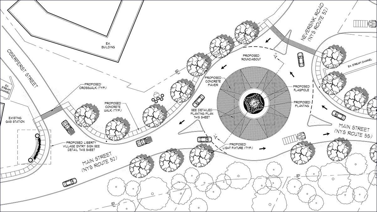 Liberty Roundabout Landscape Planting Plan Sullivan County NY