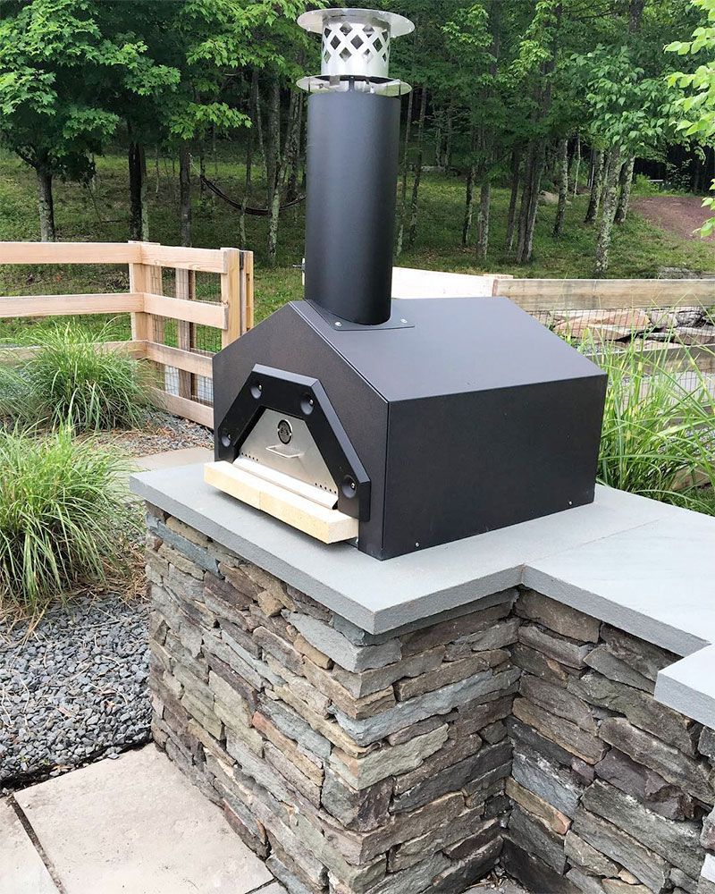 Stone Outdoor Kitchen Wood Pizza Oven Sullivan County NY