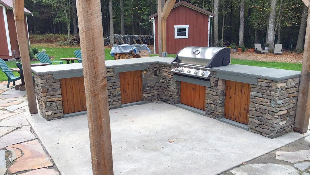 Stone Outdoor Kitchen Sullivan County NY