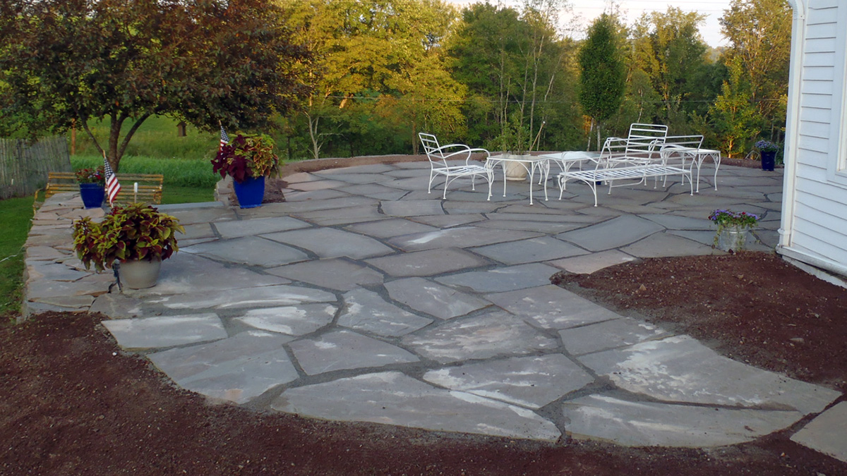 Irregular Bluestone Patio With Stonedust Sullivan County NY