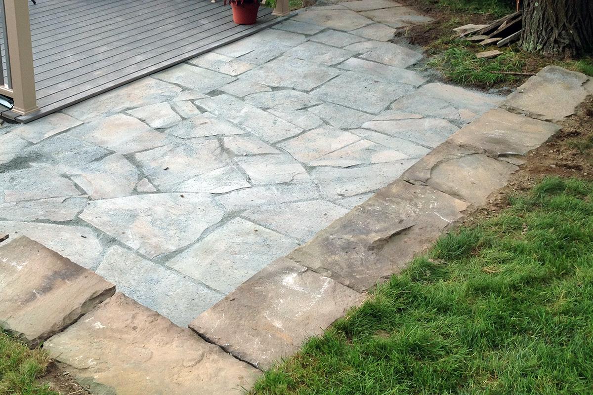 Irregular Bluestone Patio With Stonedust Sullivan County NY