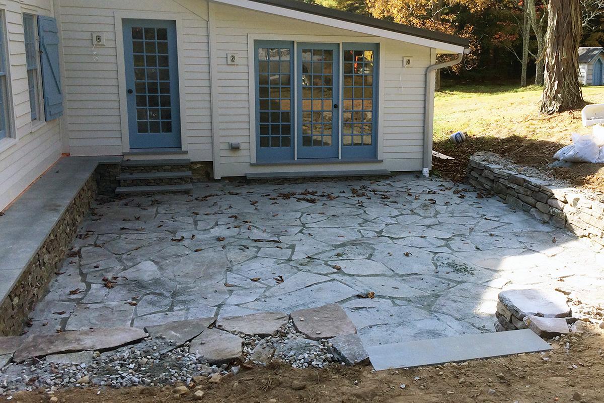 Irregular Bluestone Patio Sullivan County Wurtsboro NY