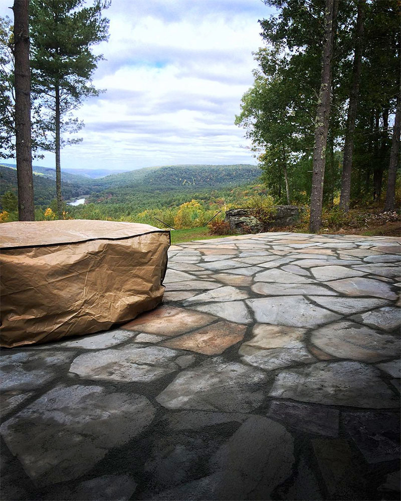 Irregular Bluestone Patio Delaware River Sullivan County NY