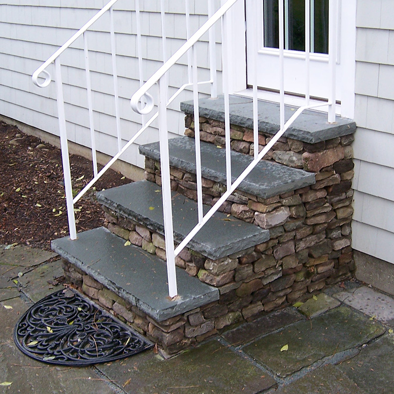 Rustic Stone Steps Bluestone Treads Sullivan County NY