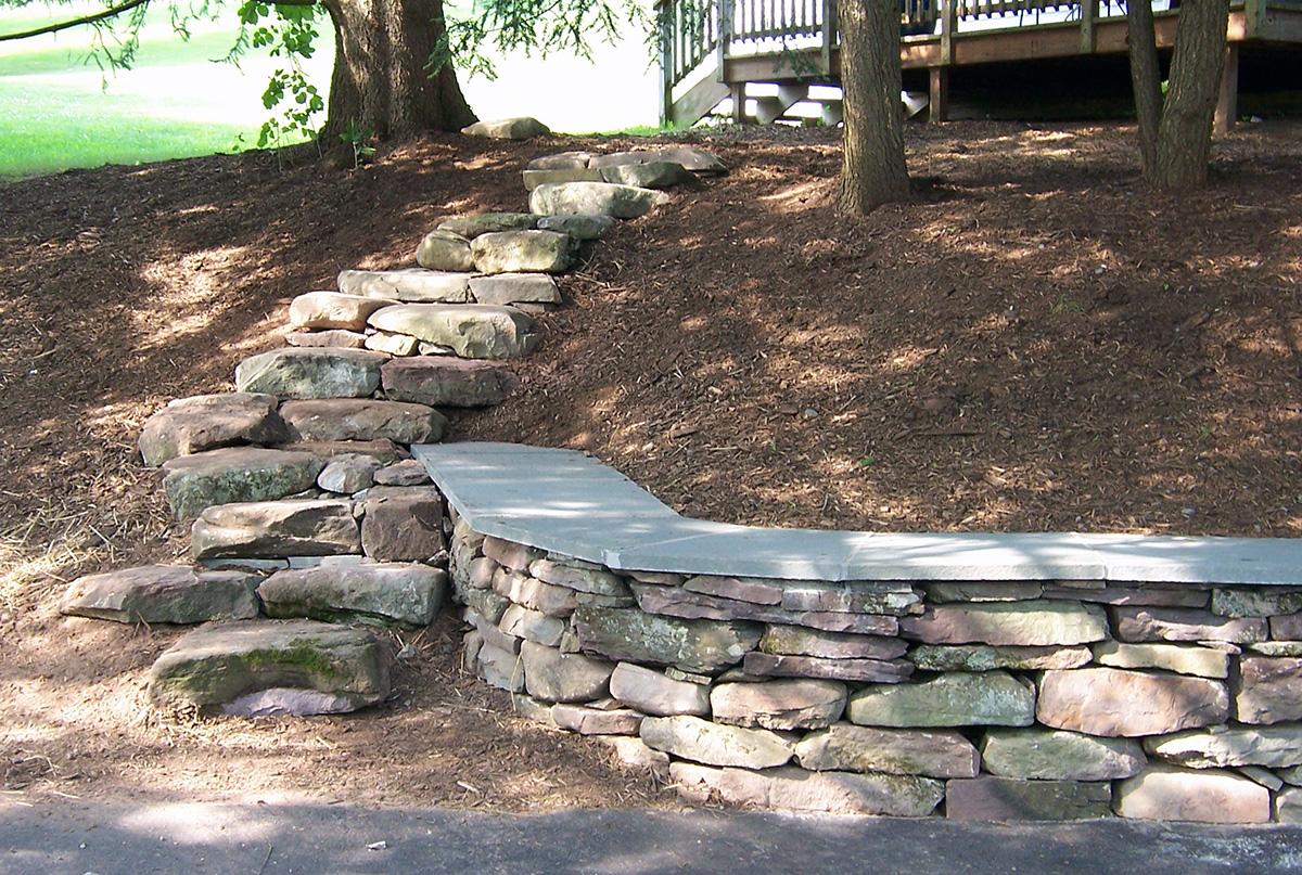 Rustic Stone Steps Bethel NY Sullivan County
