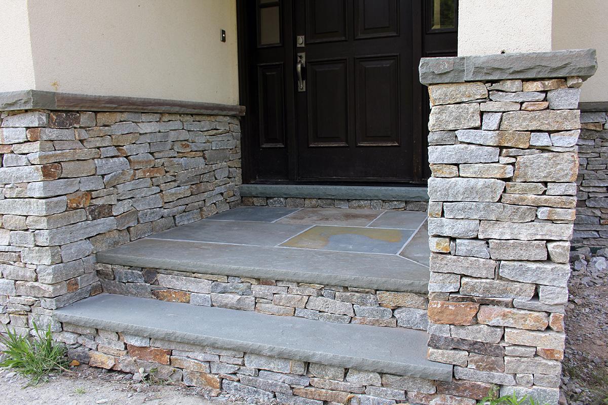 Bluestone Steps Stone Columns Sullivan County NY