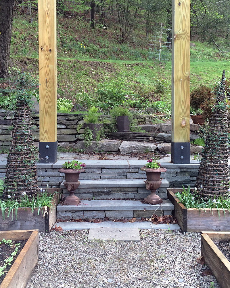 Rustic Bluestone Steps in Garden Callicoon Center NY