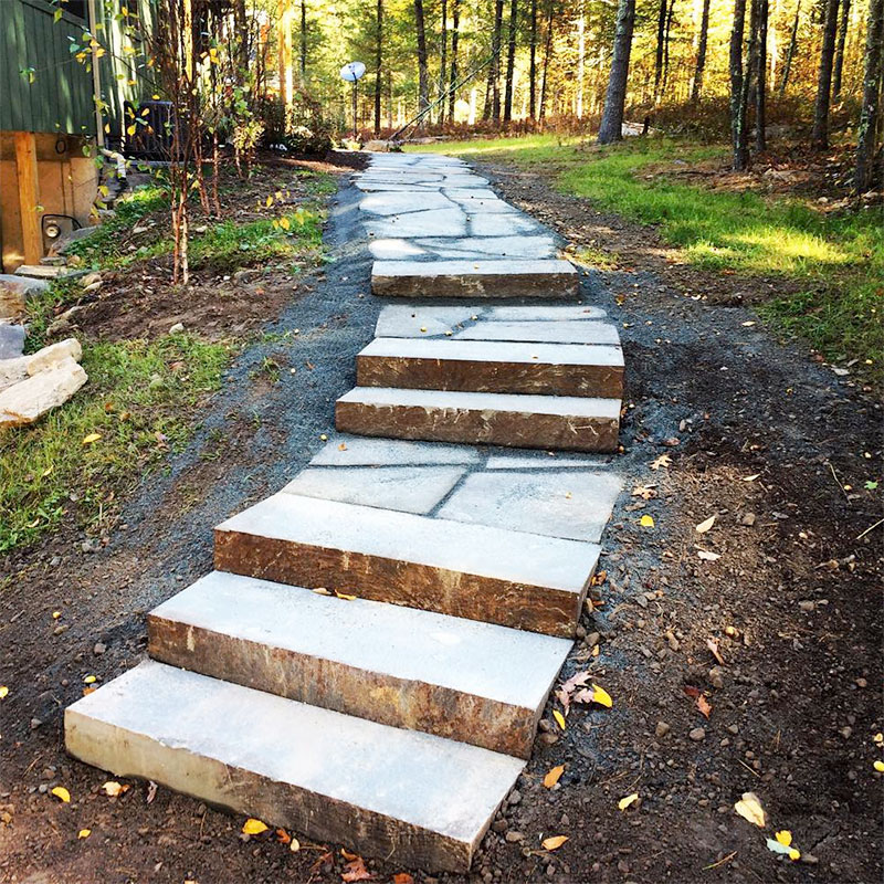 Natural Stone Steps Walkway Sullivan County NY