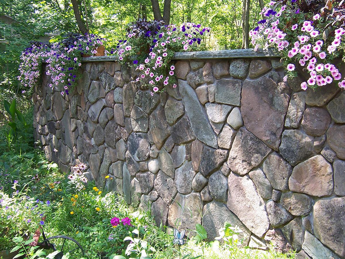 Stone Retaining Wall Veneer Liberty Sullivan County NY