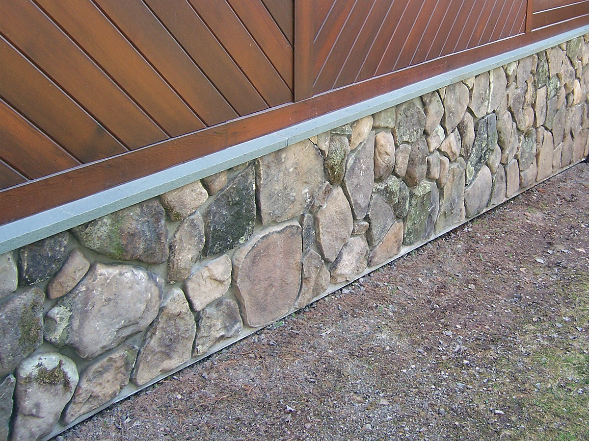 Base of House Stone Veneer Bluestone Sill Sullivan County NY