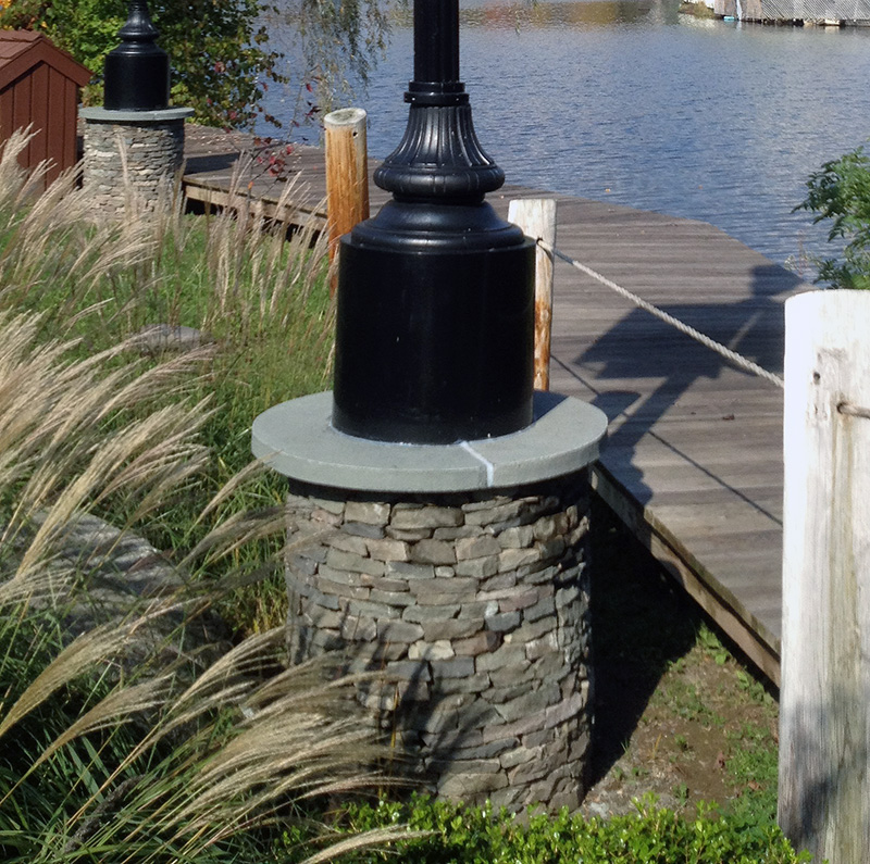 Stone Light Pole Base Swan Lake NY Sullivan County