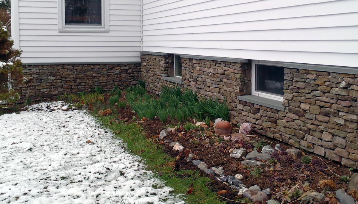 Rustic Stone Veneer Bluestone Sill Sullivan County NY