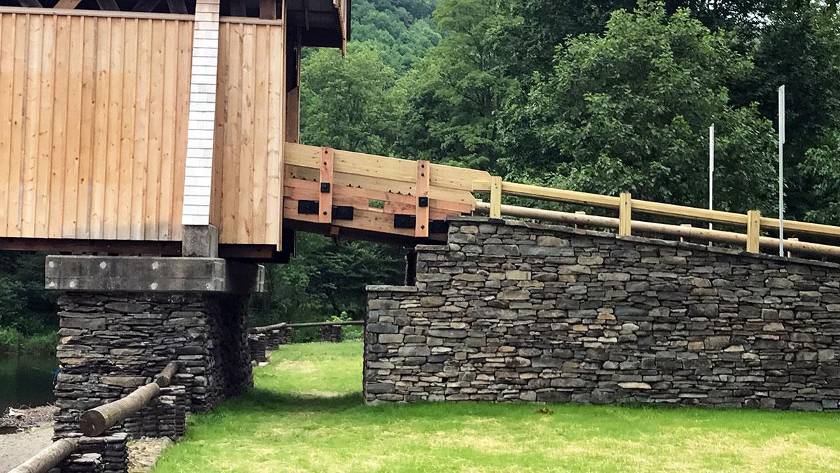 Beaverkill Bridge Stone Veneer Rockland NY Sullivan County