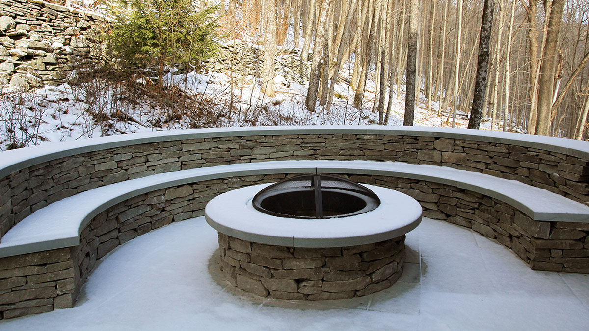 Outdoor Stone Fire Pit Sullivan County NY