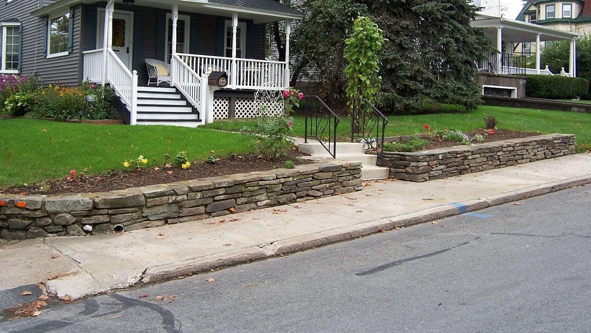 Stone Wall Flower Garden Sullivan County NY