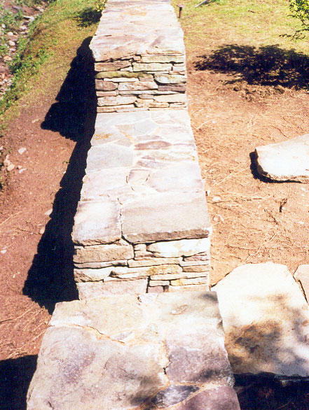 Stone Wall Stepping Stones Sullivan County NY