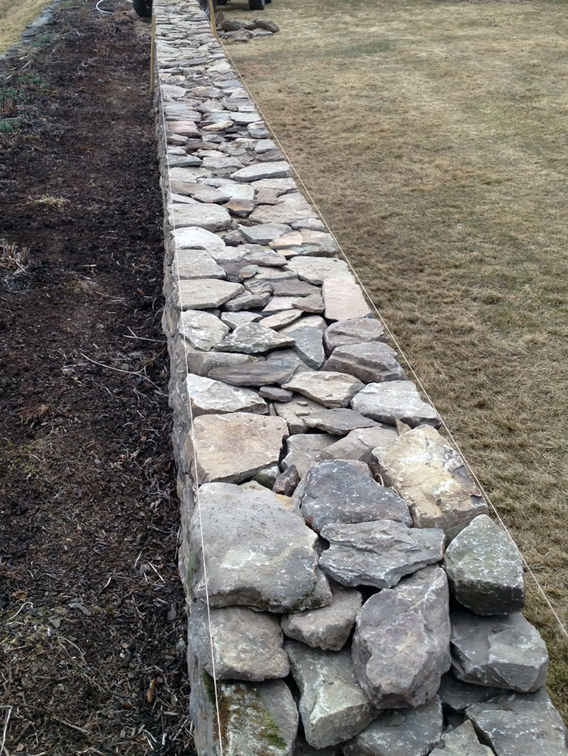 Stone Wall Front of Property Sullivan County NY