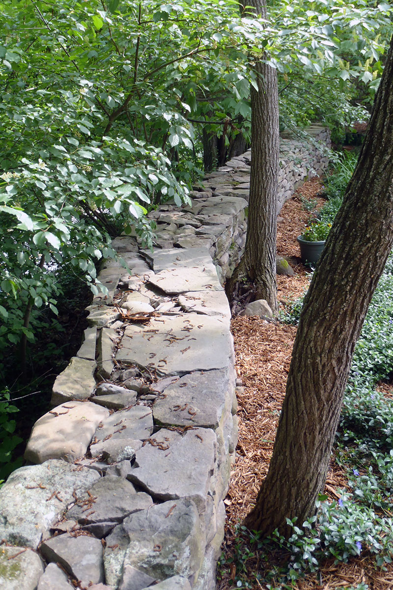 Freestanding Stone Wall Around Property Sullivan County NY