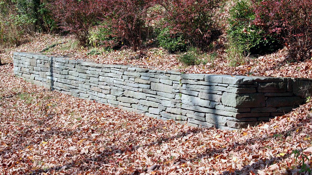 Fieldstone Retaining Wall Planting Sullivan County NY