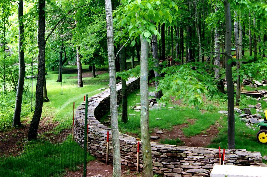 Free-Standing Stone Wall Liberty NY Sullivan County