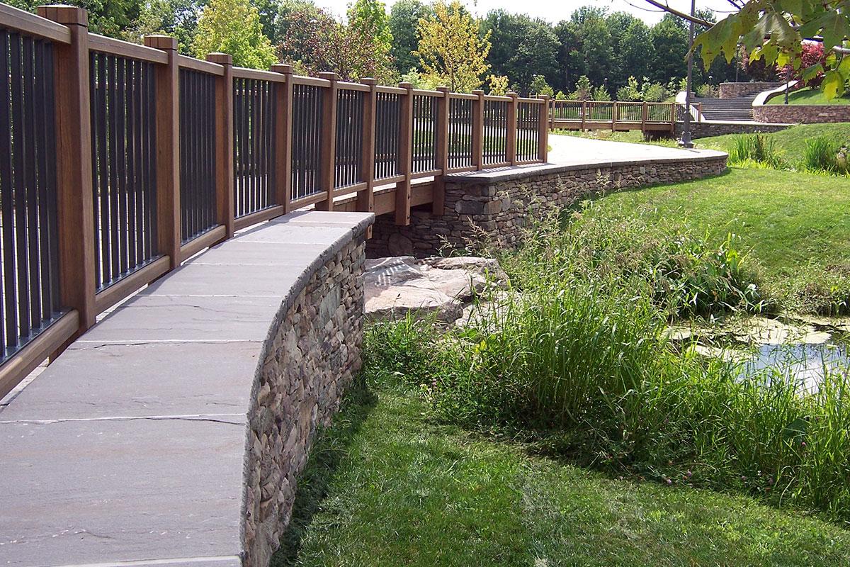 Fieldstone Wall Bluestone Cap Bethel NY Sullivan County