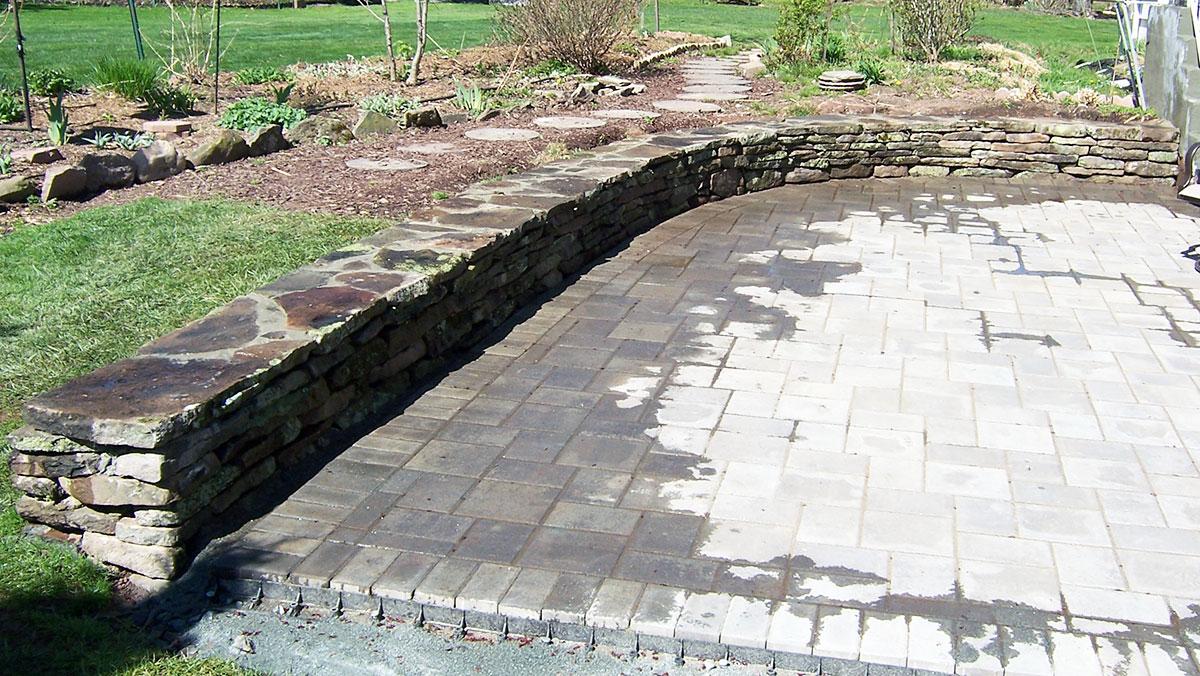 Fieldstone Seating Wall Sullivan County, NY