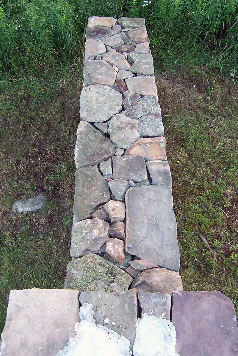 Fieldstone Wall Reconstruction Sullivan County NY