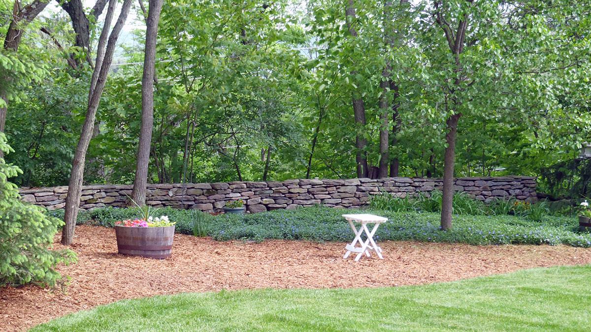 Free-Standing Stone Wall Sullivan County, NY Roscoe