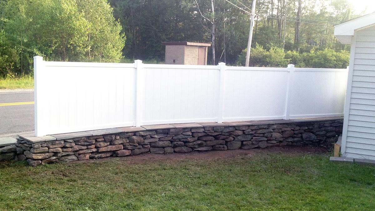 Fieldstone Wall Bluestone Cap Fence Sullivan County NY