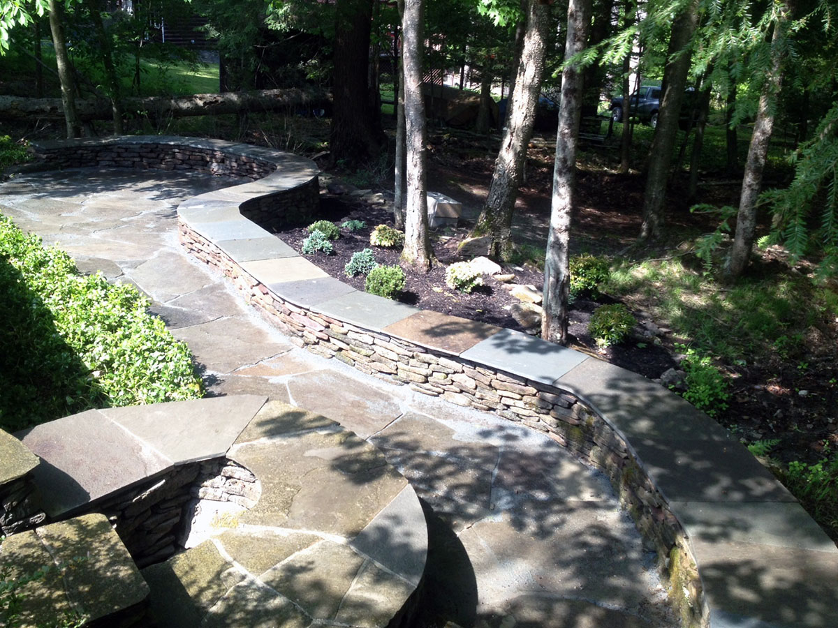 Stone Seating Wall Sullivan County NY Bethel