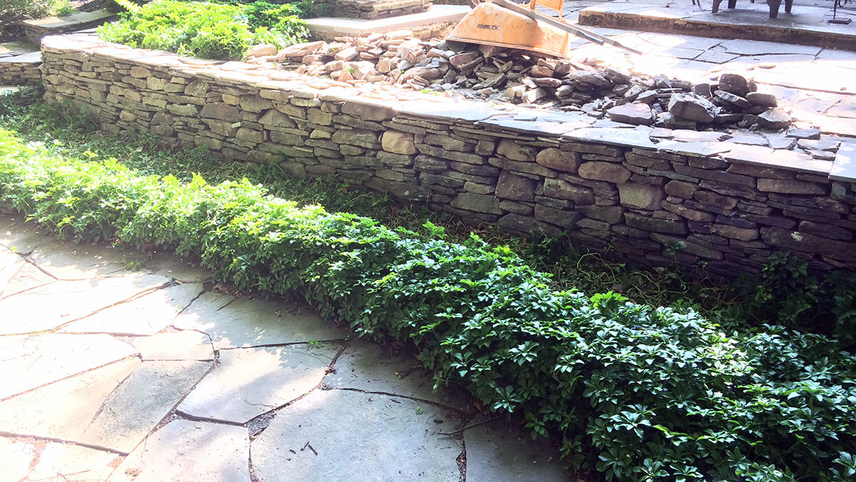 Stone Retaining Wall Repair Bethel NY Sullivan County