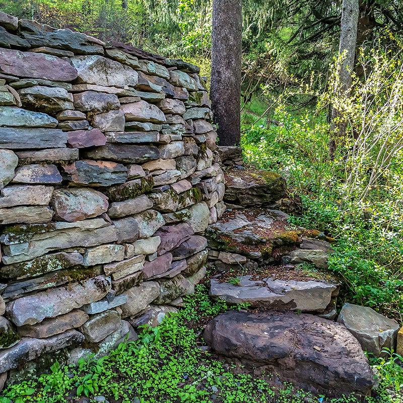 Stone Retaining Wall Callicoon Center NY Sullivan County