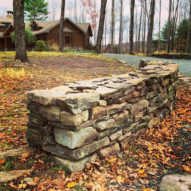 Chapin Estate Bethel NY Freestanding Stone Wall